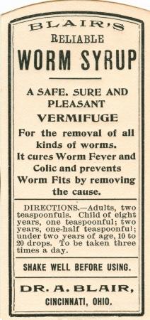 vintage medicine label Stock Photo