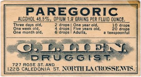 pharmacy label Stock Photo