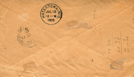 the back of a vintage envelope