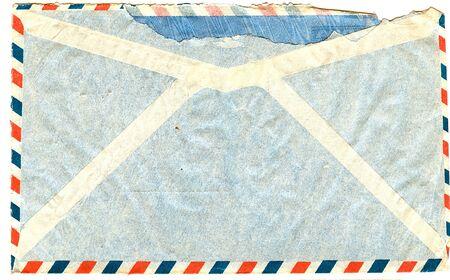 old envelope: back of vintage airmail envelope