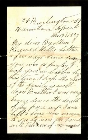 vintage letter with black border
