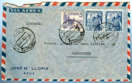 old envelope: vancouver airmail envelope