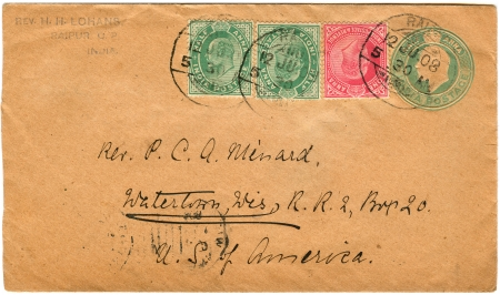 vintage envelopes with stamps photo