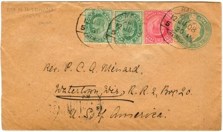 old envelope: vintage envelopes with stamps