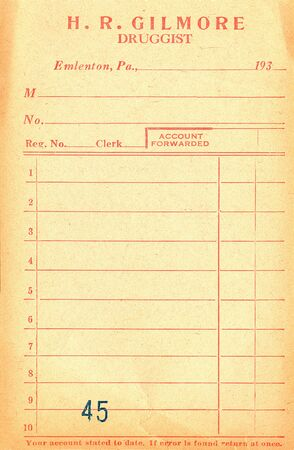 Vintage Pharmacy receipt