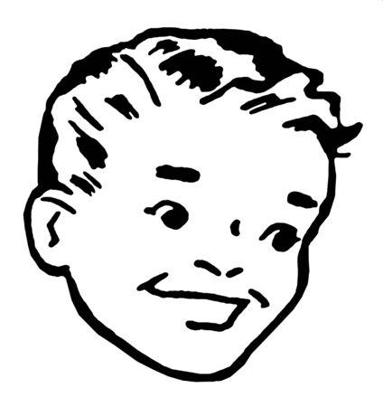 Portrait of boy smiling Stock Photo