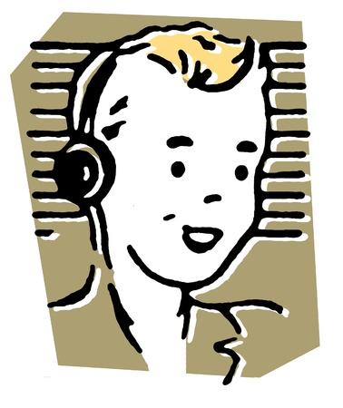 listened: Portrait of boy wearing headphones and smiling