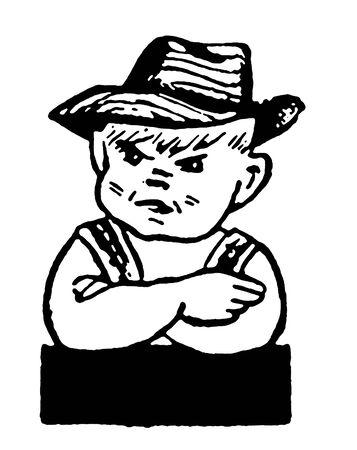 tantrums: Ritratto di ragazzo imbronciato Archivio Fotografico