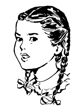 frowning: Portrait of frowning girl