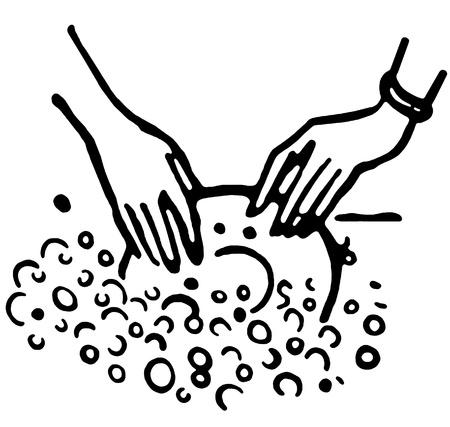 Een zwart-wit versie van de afwas Stockfoto