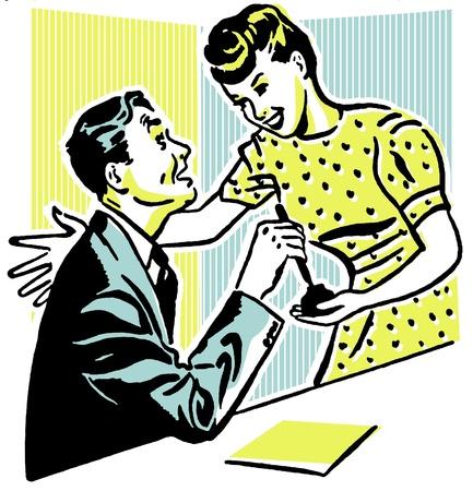 Een man en een vrouw het delen van een moment Stockfoto