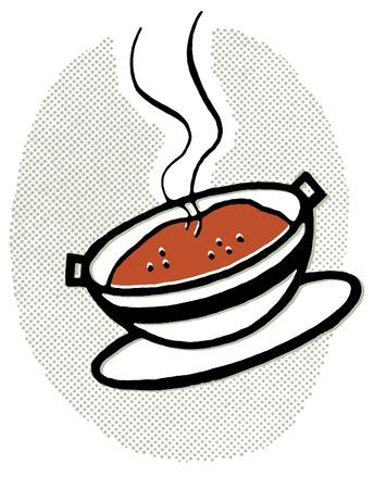 수프의 뜨거운 그릇 스톡 콘텐츠