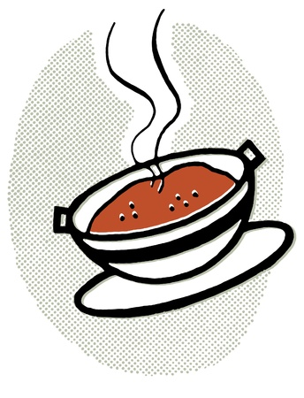 A hot bowl of soup