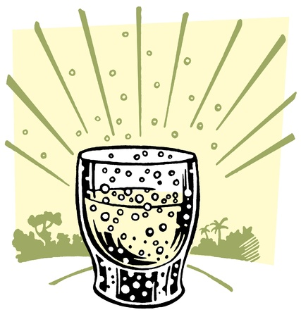 An illustration of an effervescent drink Banco de Imagens