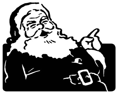 A Christmas inspired Santa illustration illustration