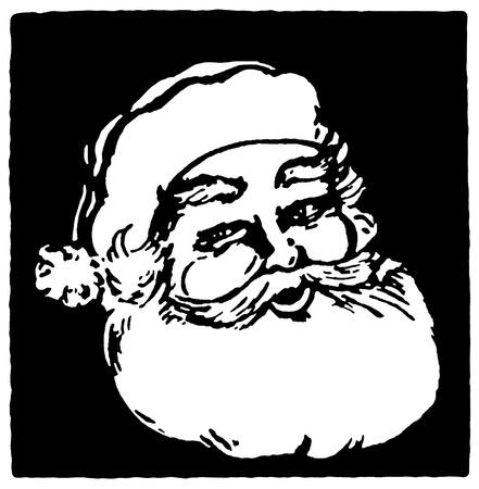 A Christmas inspired Santa illustration