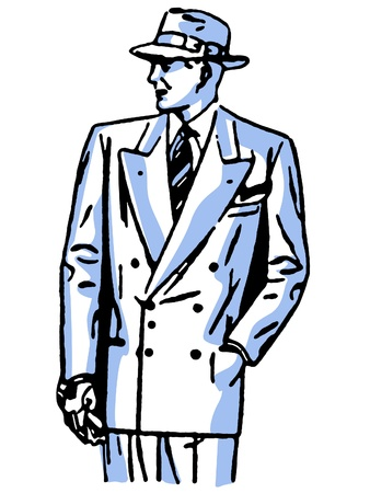 A graphical drawing of a detective character Stock Photo - 14917905