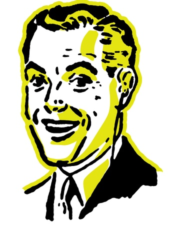 A graphical portrait of a man