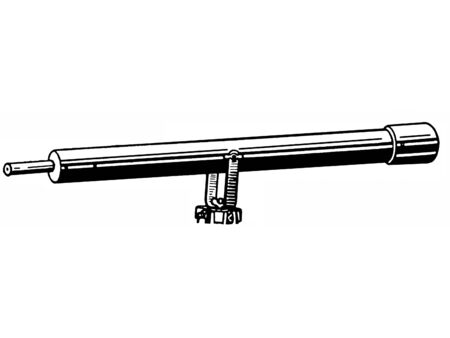 A black and white version of a vintage telescope Stock fotó