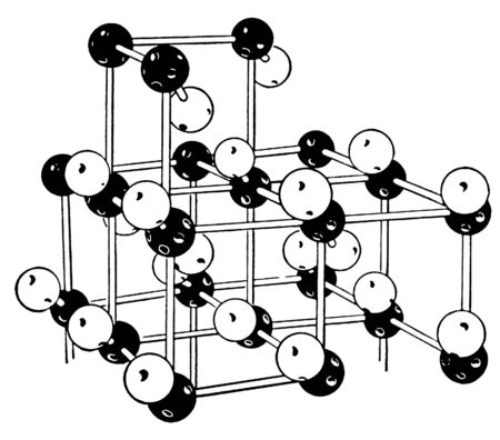version: A black and white version of a vintage science display