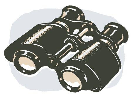 A vintage pair of binoculars Zdjęcie Seryjne - 14917498