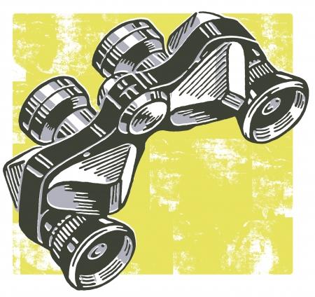 A vintage pair of binoculars