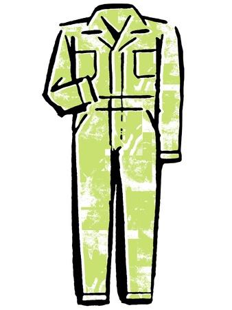 A green jumpsuit