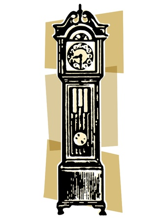 grandfather clock: A vintage grandfather clock