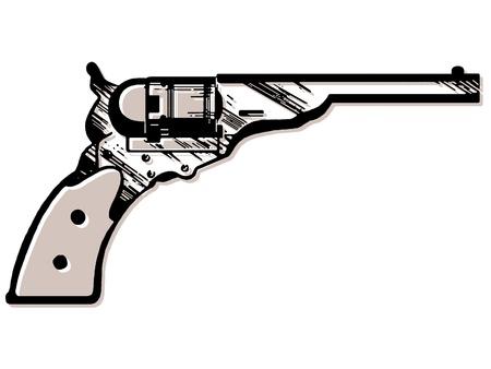 A vintage hand gun
