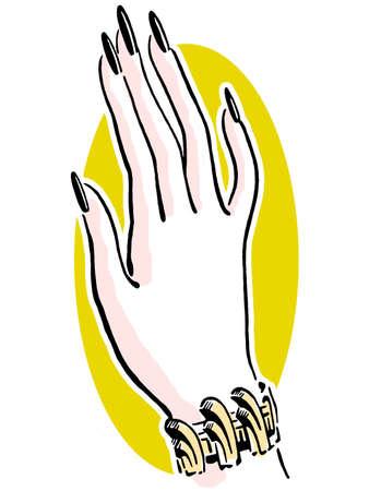 indulgent: A well manicured hand