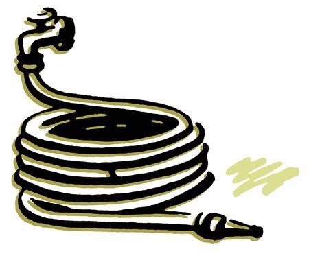 garden hoses: A well wrapped garden hose Stock Photo