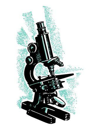 A vintage microscope Stock fotó