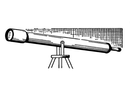 version: A black and white version of a telescope