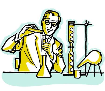 A portrait of a Scientist Banco de Imagens