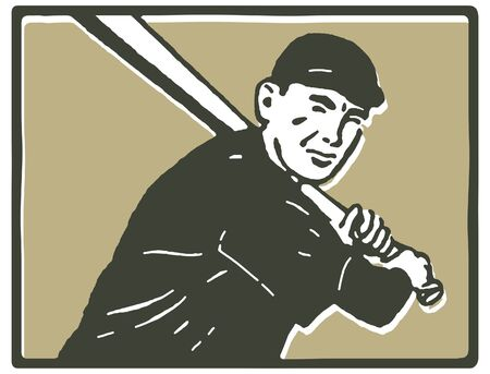 A graphical portrait of a baseball player photo