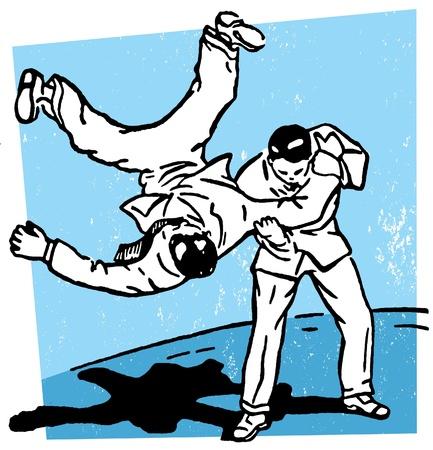 A rough move in karate Фото со стока