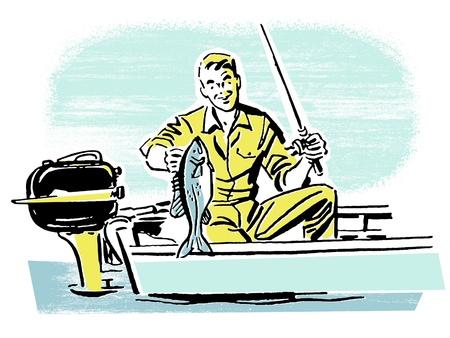 A man on a fishing trip Stock Photo - 14918518