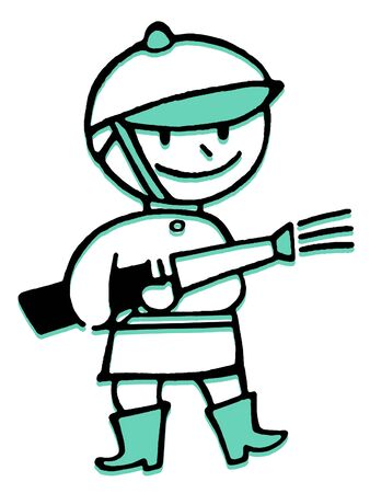 A cartoon style drawing of a fireman Stock Photo - 14917440