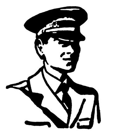 pilotos aviadores: Una versión en blanco y negro de un retrato estilo vintage Foto de archivo