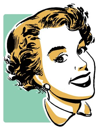 cheerfulness: A vintage portrait illustration