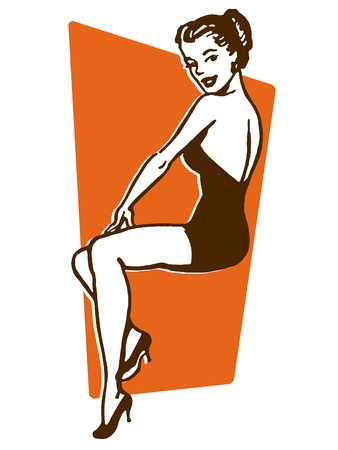A vintage pin up girl Stock Photo - 15207813
