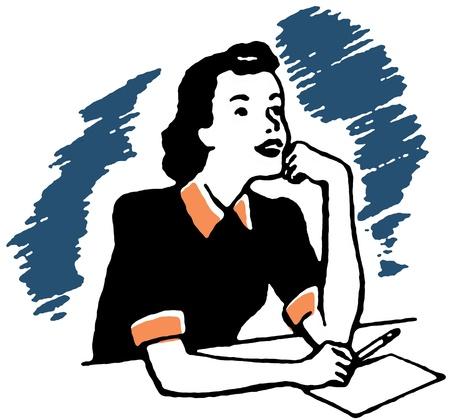A vintage portrait illustration