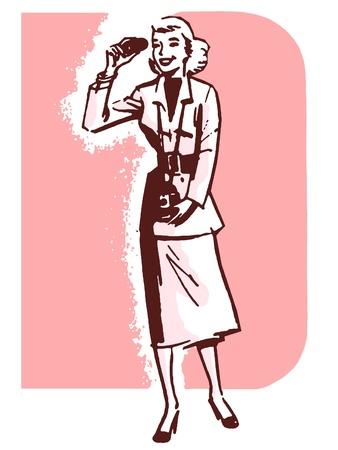 A vintage style portrait of a woman photo