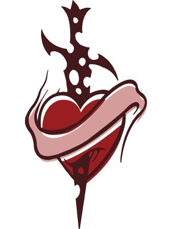 rejection: A stencil of a steak through a heart