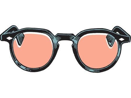 gafas de lectura: Un par de gafas de lectura Foto de archivo