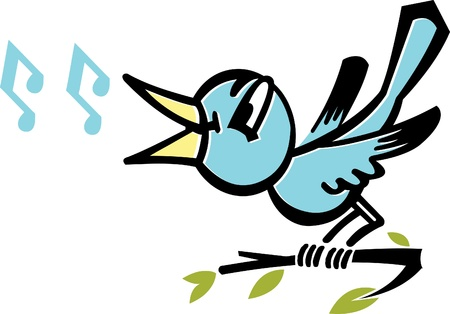 tweeting: A bird tweeting