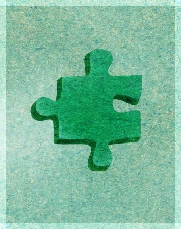 緑のパズルのピース