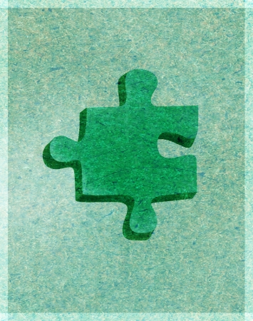 A green puzzle piece Stock Photo - 15209421
