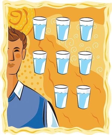 Eight glasses of water a day Stock Photo - 15209260