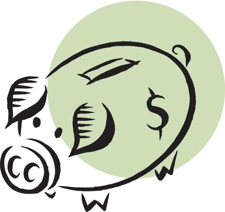 Piggy bank 版權商用圖片